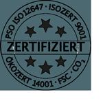 Zertifizierung PSO ISO 12647 | ISO 9001 | Ökozert 14001 | FSC | CO2